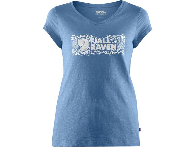 Fjällräven Logo Stamp T-Shirt Damen river blue